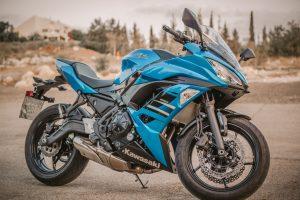motorrad blau